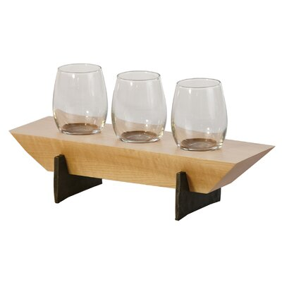Lenhardt 4 Piece Tabletop Wine Glass Rack Finish: Maple