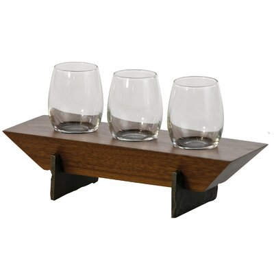 Lenhardt 4 Piece Tabletop Wine Glass Rack Finish: Walnut