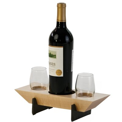 Lenhardt 1 Bottle Tabletop Wine Rack Finish: Maple