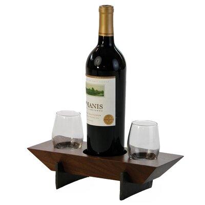 Lenhardt 1 Bottle Tabletop Wine Rack Finish: Walnut