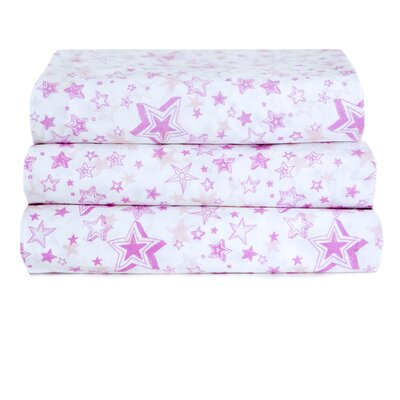 200 Thread Count 100% Cotton Pink Star Wishes Sheet Set