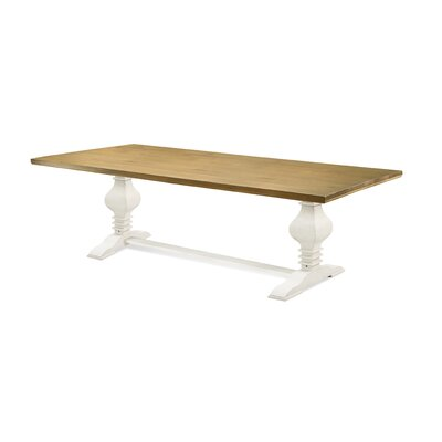 Tower 94 Dining Table Finish Oak Top Old White Base