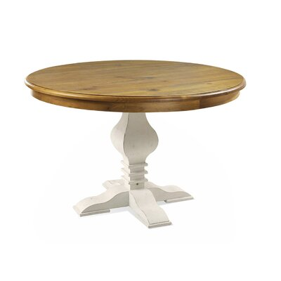Tower Dining Table Top Finish Oak Base Finish White