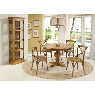 Tower Dining Table Top Finish Oak Base Finish Oak