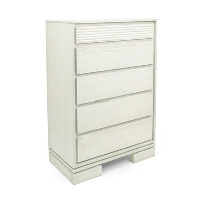 Vienna 5 Drawer Chest Color: Off White