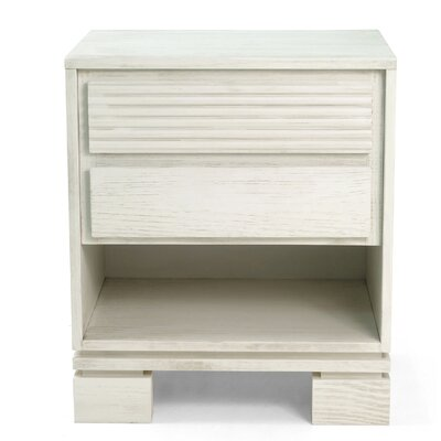Vienna 2 Drawer Night Stand Color: Off White