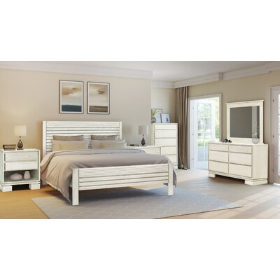 Vienna Panel 3 Piece Bedroom Set Color: Off-White