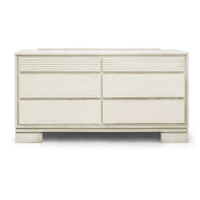 Vienna 6 Drawer Dresser Color: Off White