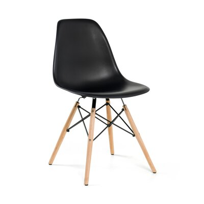 Rittenhouse Solid Wood Dining Chair Color: Black