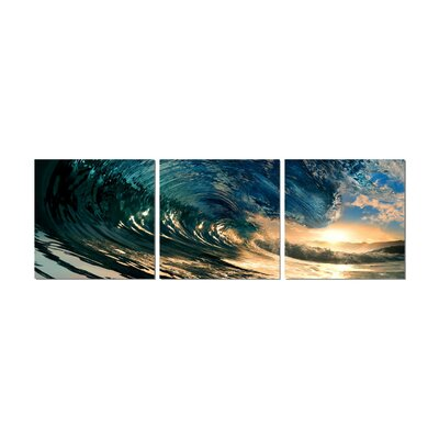 'The Wave' Photographic Print Multi-Piece Image on Wrapped Canvas