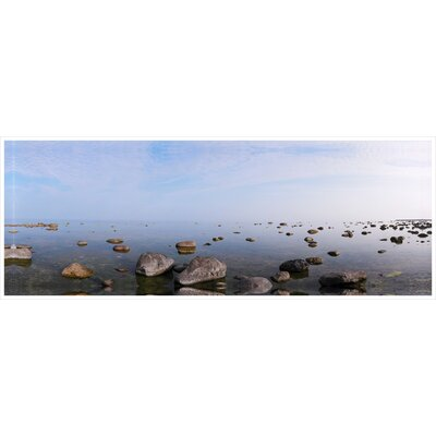 'Rocky Shores' Framed Photographic Print on Wrapped Canvas