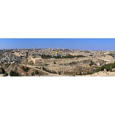 "Jerusalem Photographic Print On Wrapped Canvas Size: 20"" H X 60"" W X 1"" D"
