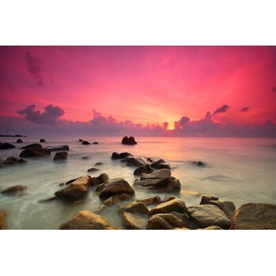 'Soft Sunset' Photographic Print Multi-Piece Image on Canvas Size: 20