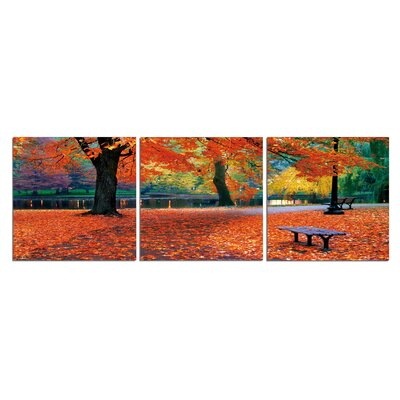'Boston Bench' Photographic Print Multi-Piece Image on Canvas Size: 20