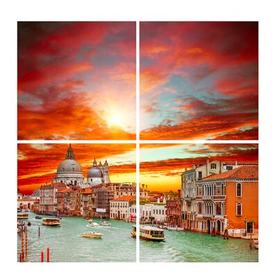 'Venice at Sunset' Photographic Print Multi-Piece Image on Canvas Size: 40