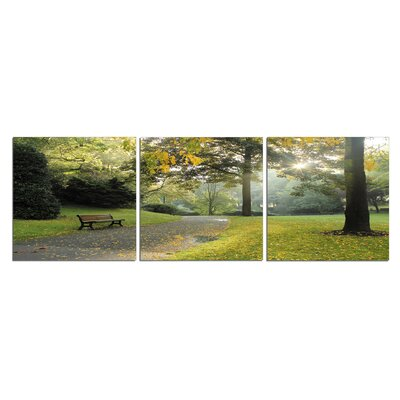 'Sunny Bench Park' Photographic Print Multi-Piece Image on Canvas Size: 20