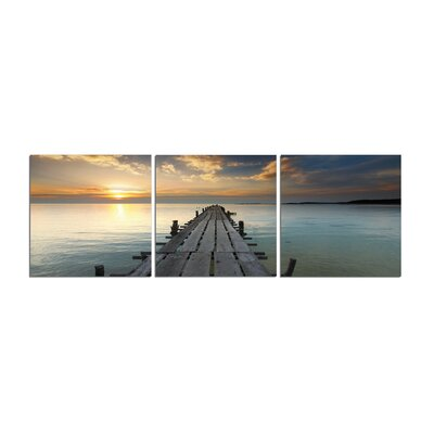 'Along the Dock' Photographic Print Multi-Piece Image on Canvas Size: 20
