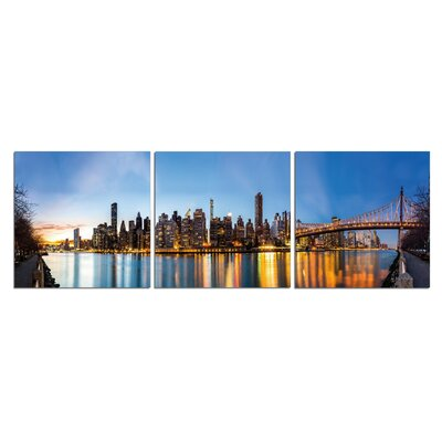 'Golden City' Photographic Print Multi-Piece Image on Wrapped Canvas Size: 20