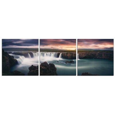 'Waterfall Rainbow' Photographic Print Multi-Piece Image on Canvas