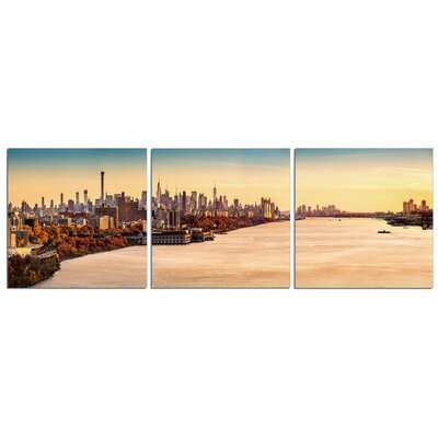 'Hudson NYC' Photographic Print Multi-Piece Image on Canvas Size: 20