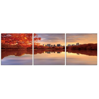 'Central Park River' Photographic Print Multi-Piece Image on Canvas Size: 20