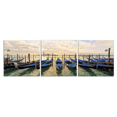 'Gondolas' Photographic Print Multi-Piece Image on Wrapped Canvas