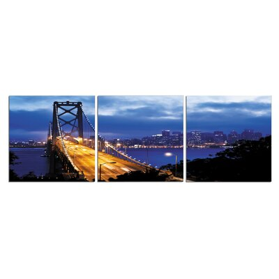 'San Francisco Oakland By Bridge' Photographic Print Multi-Piece Image on Wrapped Canvas Size: 20