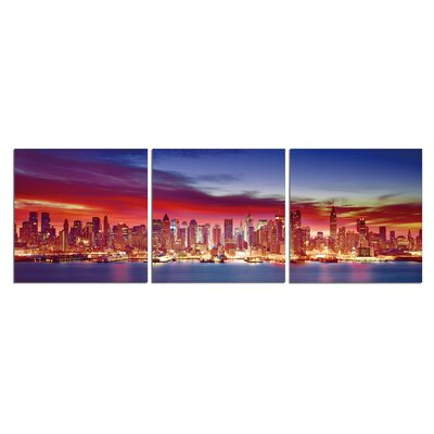 'NYC Sky' Photographic Print Multi-Piece Image on Wrapped Canvas Size: 20