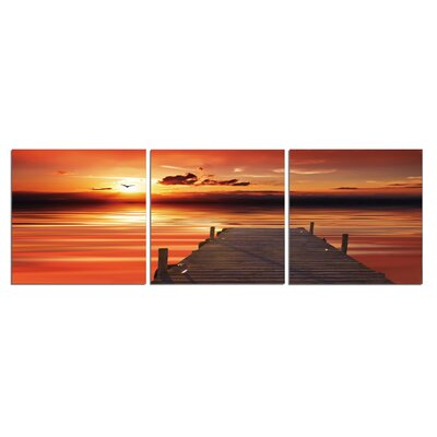 'Sunset, Birds and Sky' Photographic Print Multi-Piece Image on Wrapped Canvas Size: 20