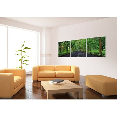 'Summer Central Park' Photographic Print Multi-Piece Image on Canvas Size: 20