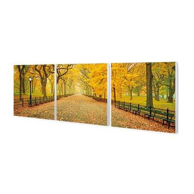 'Autumn Central Park' Photographic Print Multi-Piece Image on Canvas Size: 24