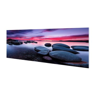 'Lake Tahoe' Framed Photographic Print on Wrapped Canvas Size: 20
