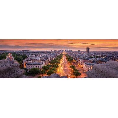 'Paris Roads' Photographic Print on Wrapped Canvas