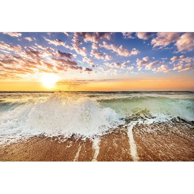 'Sunny Day at the Beach 2' Photographic Print on Wrapped Canvas