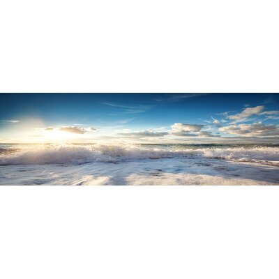 'Sunny Ocean' Photographic Print on Wrapped Canvas
