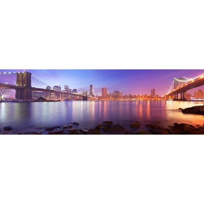 'Between the Bridges (NY)' Photographic Print on Wrapped Canvas