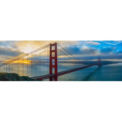 'San Francisco in Blue' Photographic Print on Canvas
