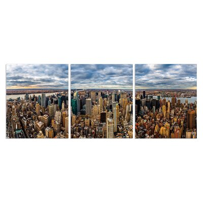 'Sunburnt City' Photographic Print Multi-Piece Image on Canvas