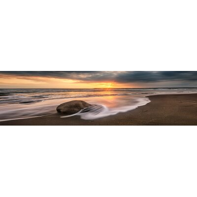 'Sunset Calm' Photographic Print on Wrapped Canvas