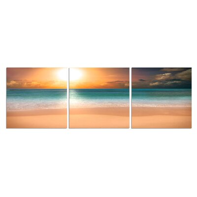 'Sunny at the Beach' Photographic Print on Wrapped Canvas