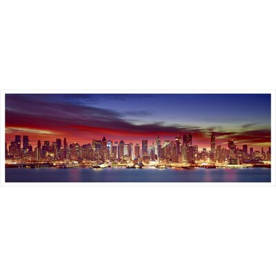 'Flickering Skyline 2' Photographic Print on Wrapped Canvas Size: 20