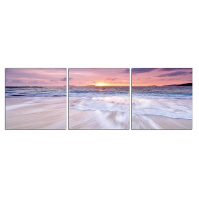 'Sunset' Photographic Print Multi-Piece Image on Wrapped Canvas