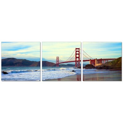 'View from Below Golden Gate' Photographic Print Multi-Piece Image on Wrapped Canvas
