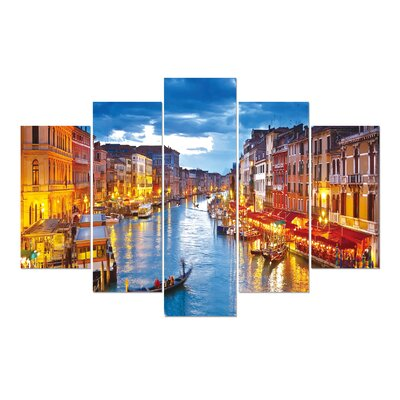 'Venice at Dusk' Photographic Print Multi-Piece Image on Wrapped Canvas