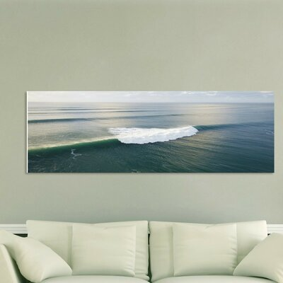 'Calm Wave' Framed Graphic Art Print on Wrapped Canvas