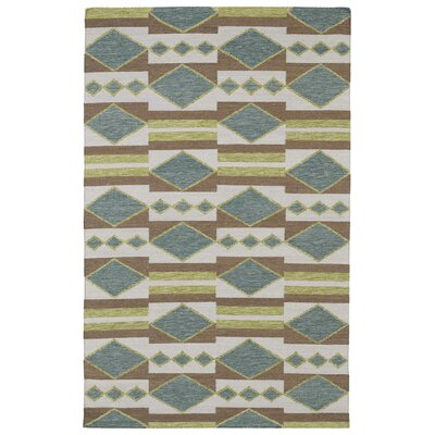 Nomad Turquoise Geometric Area Rug Rug Size: 9' x 12'