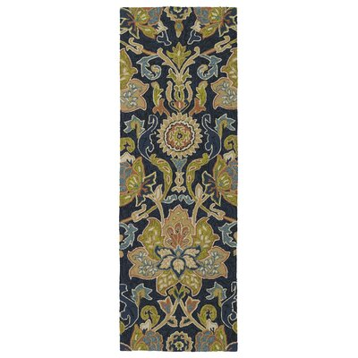 Home and Porch Hand-Tufted Navy Indoor/Outdoor Area Rug Rug Size: 2' x 3'