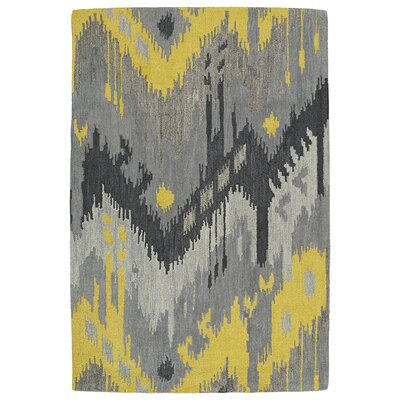 Casual Gray Area Rug Rug Size: 3' x 5'