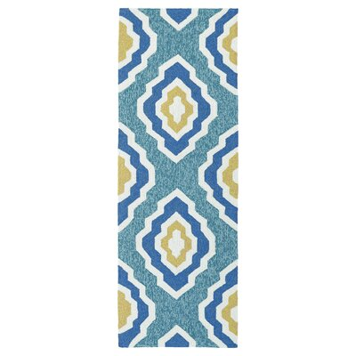Escape Hand-Tufted Blue Indoor/Outdoor Area Rug Rug Size: Runner 2 x 6