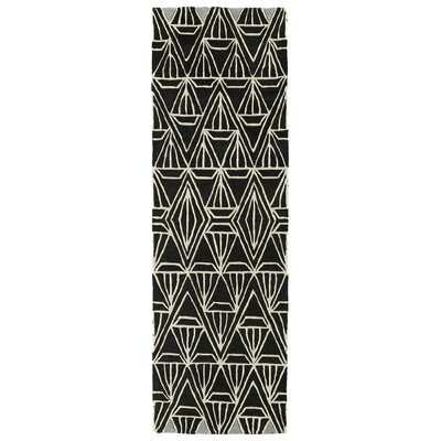 Origami Hand-Tufted Black Area Rug Rug Size: Runner 26 x 8